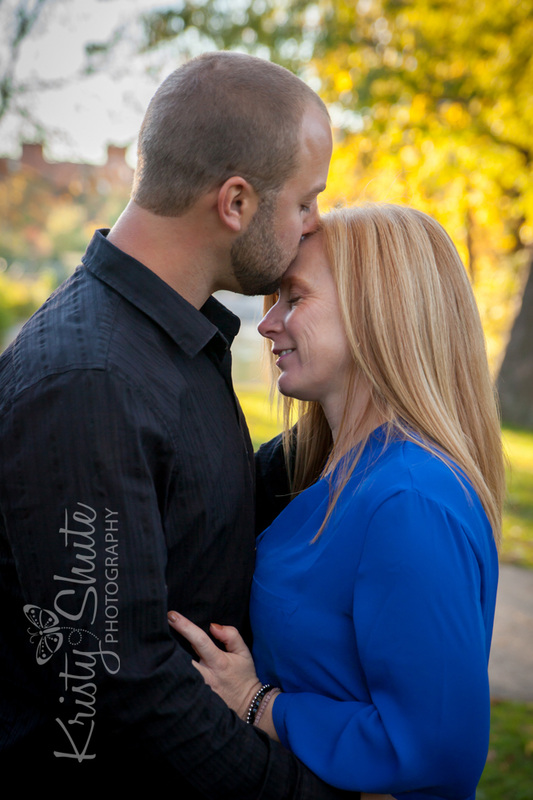 Kristy Shute Photography Engagement Victoria Park Kiss to Forehead