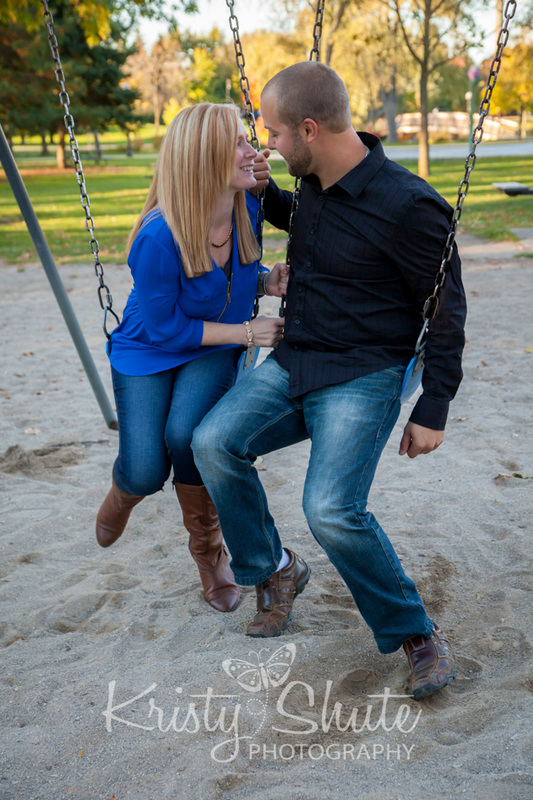 Kristy Shute Photography Engagement Victoria Park Swings