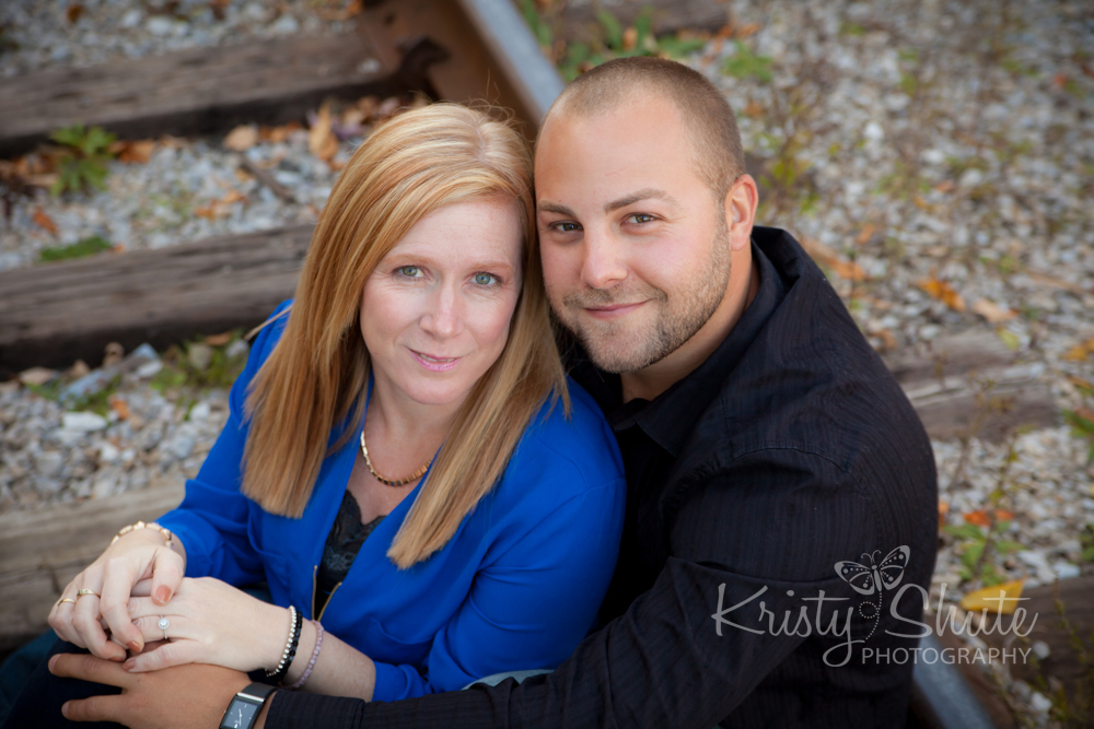 Kristy Shute Photography Engagement Victoria Park Train Tracks