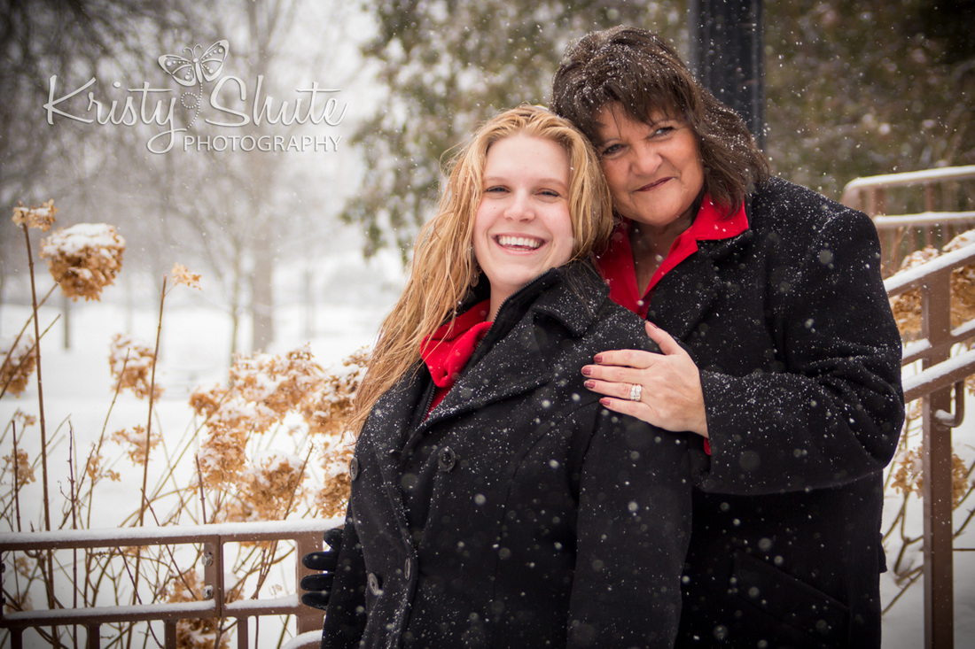 Mother Daughter Victoria Park Kitchener Family Photography Park Winter Snow