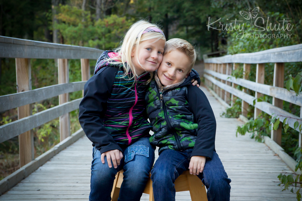 Kristy Shute Photography Family Huron Natural Area Fall Children Siblings