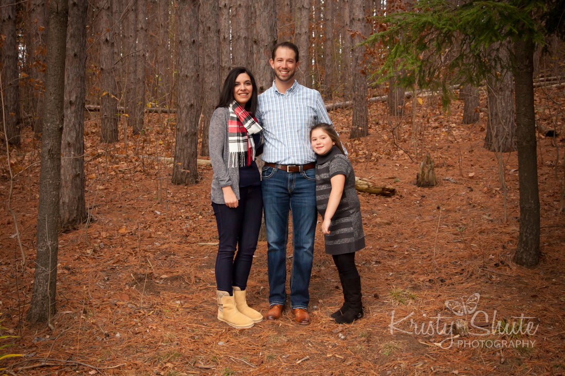 Kristy Shute Photography, Kitchener, Ontario, Huron Natural Area, Fall, Holiday, Family Session, Forest