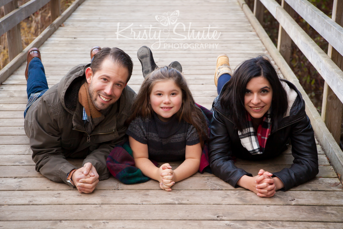 Kristy Shute Photography, Kitchener, Ontario, Huron Natural Area, Fall, Holiday, Family Session, Bridge